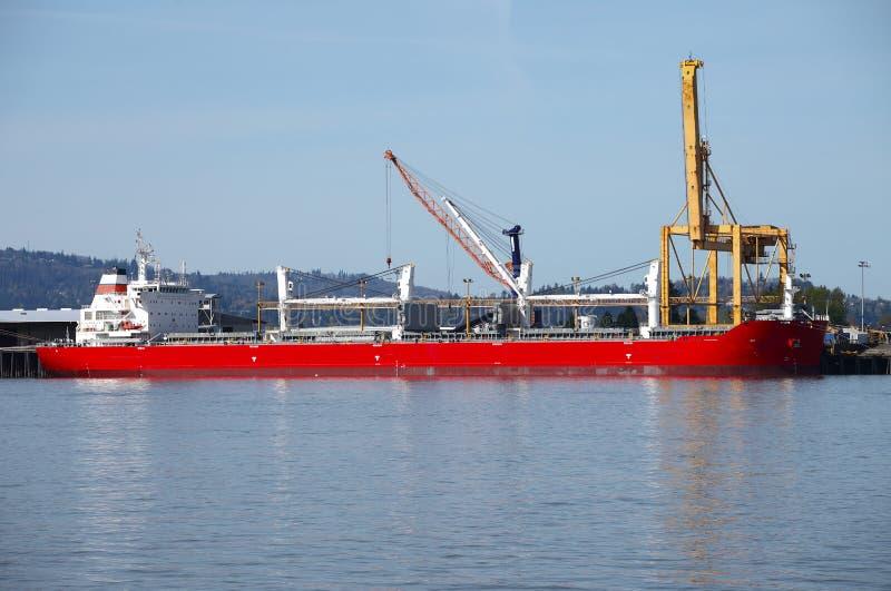 Vrachtschip. stock afbeeldingen