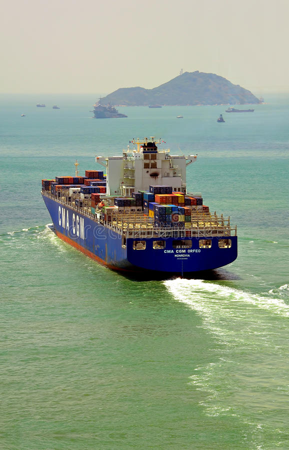 Vrachtschip stock foto