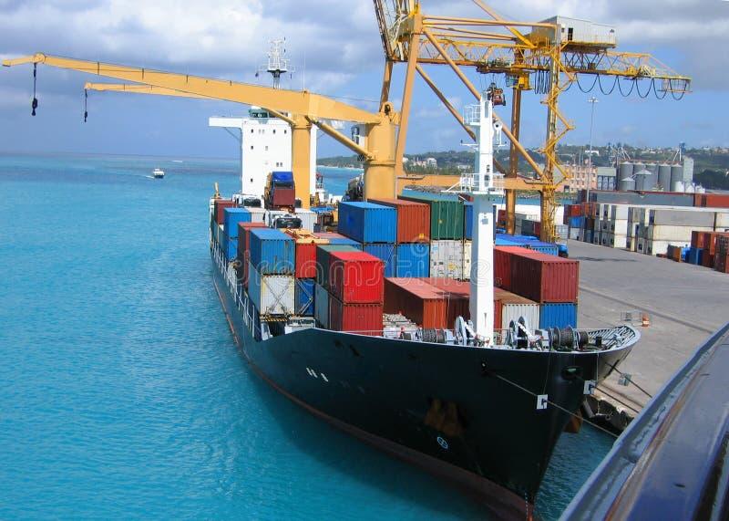 Vrachtschip royalty-vrije stock afbeelding