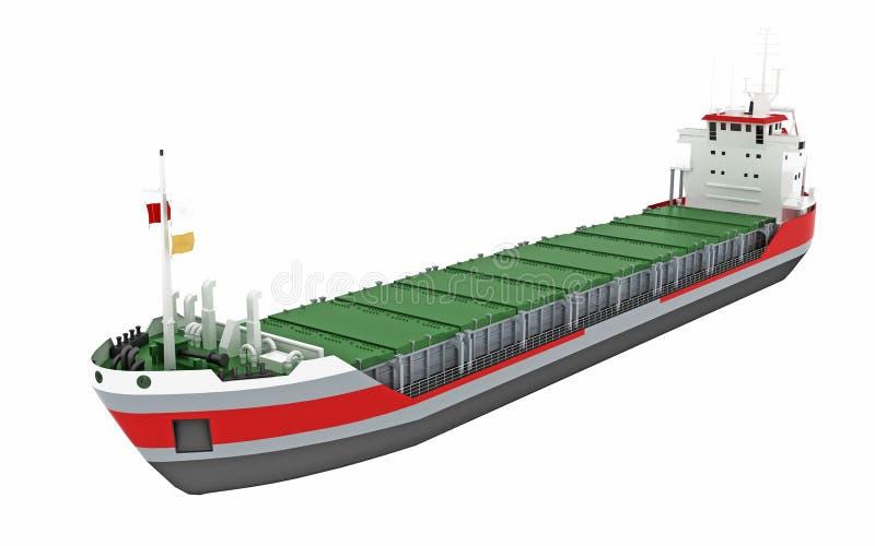 Vrachtschip of vrachtschip royalty-vrije illustratie