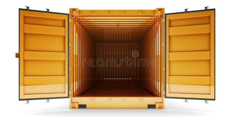 Vrachtvervoer en het verschepen concept royalty-vrije illustratie