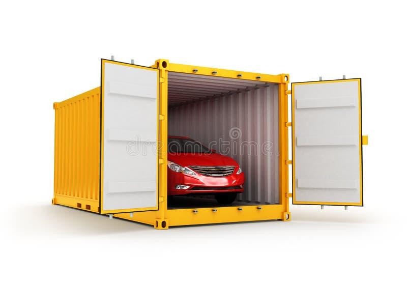 Vrachtvervoer, verzending en leveringsconcept royalty-vrije illustratie