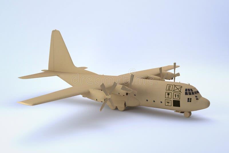 Vrachtvliegtuig royalty-vrije illustratie
