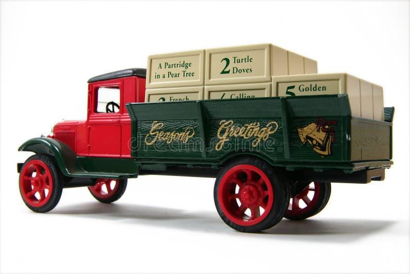 Vrachtwagen 1 van de Vakantie van de Groeten van seizoenen stock afbeeldingen