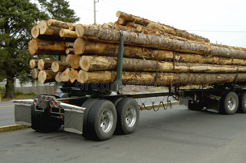 Vrachtwagen 2 van het logboek stock foto