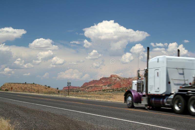 Vrachtwagen 89 tusen staten royalty-vrije stock afbeeldingen