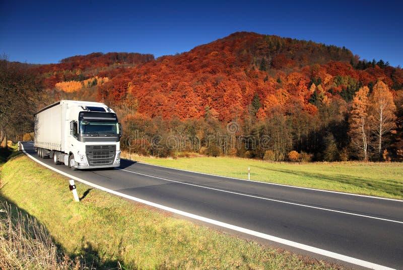 Vrachtwagen op de Weg royalty-vrije stock foto