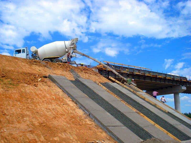Vrachtwagen van cement royalty-vrije stock foto