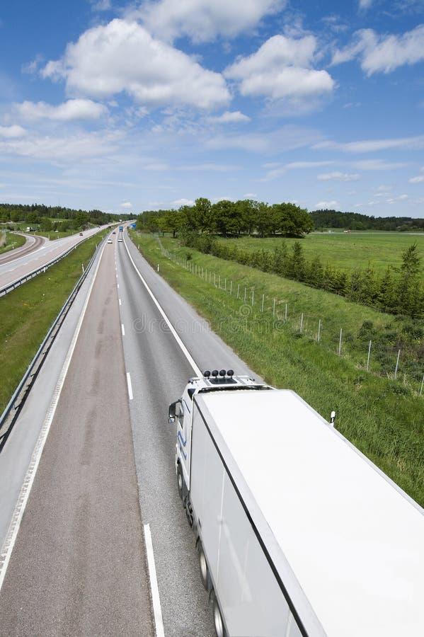 vrachtwagen van hierboven stock fotografie