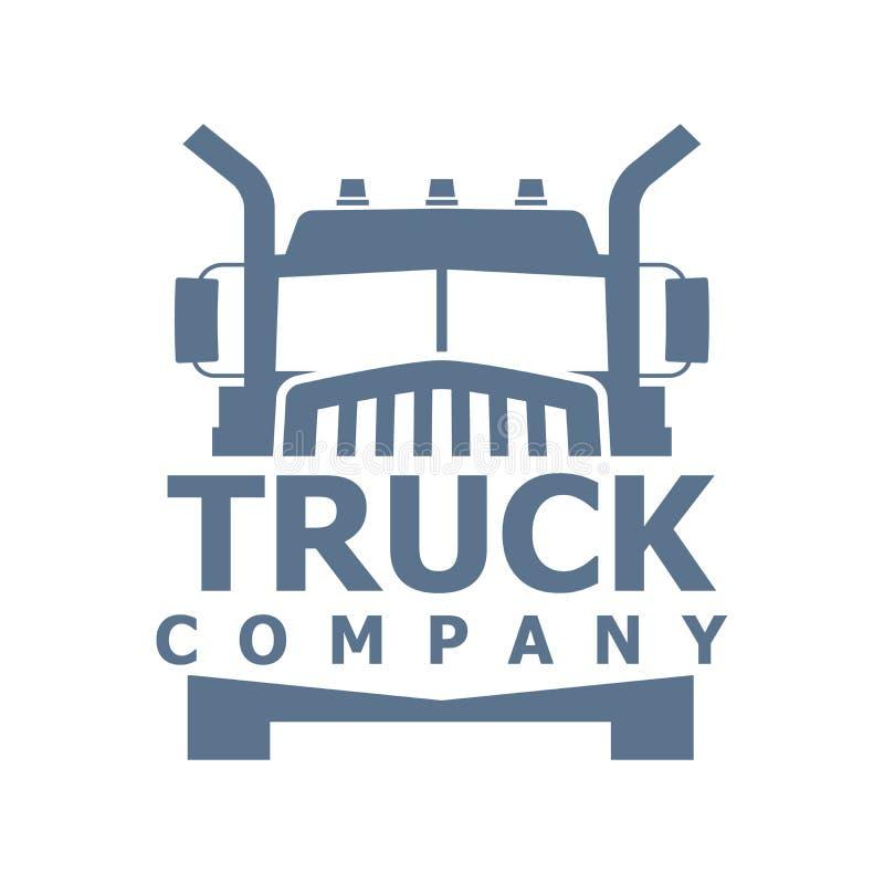 Vrachtwagen vectorembleem royalty-vrije stock foto