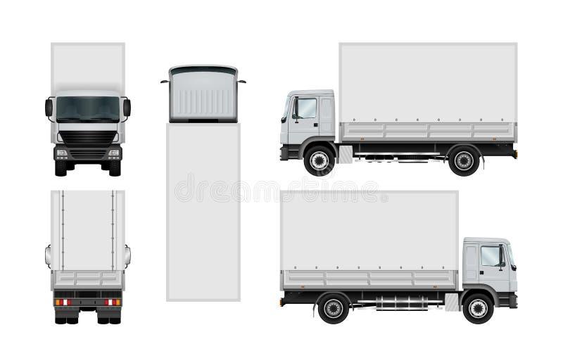 Vrachtwagen vectormalplaatje royalty-vrije illustratie