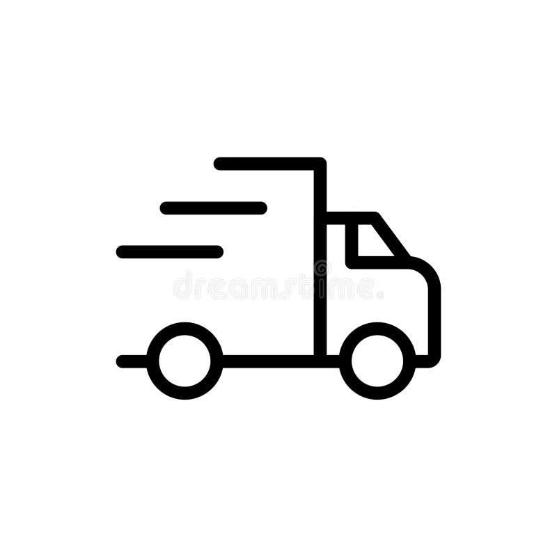 Vrachtwagen vlak pictogram royalty-vrije stock foto