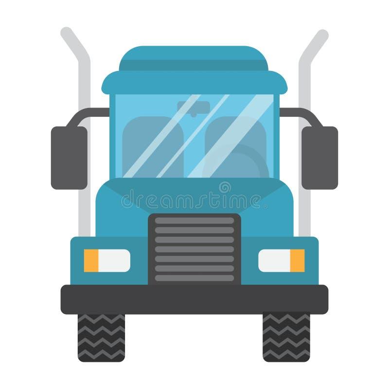 Vrachtwagen vlak pictogram, vervoer en voertuig, ladingsteken vector illustratie