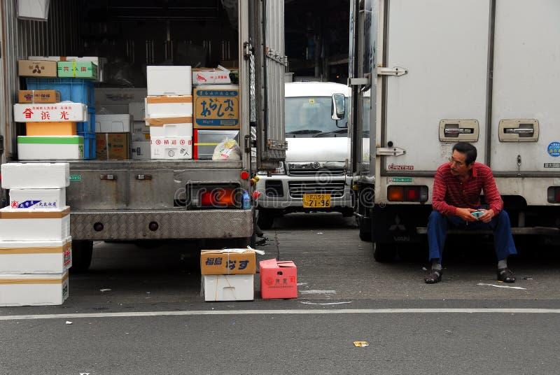 Vrachtwagenlading stock foto
