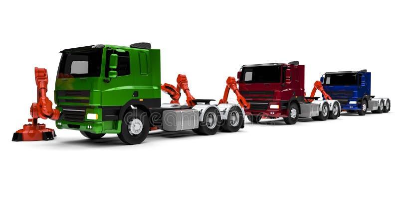 Vrachtwagenlopende band royalty-vrije illustratie