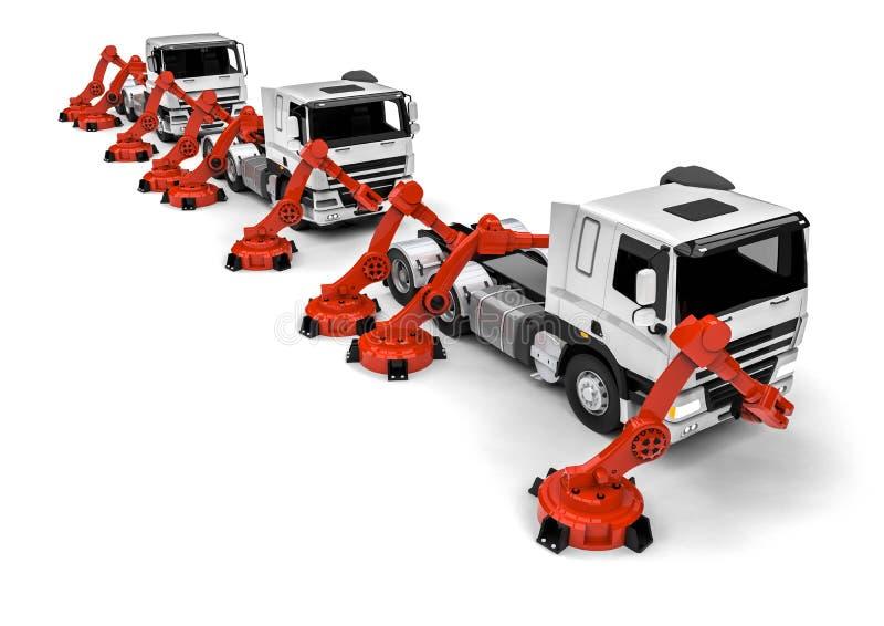 Vrachtwagenlopende band vector illustratie