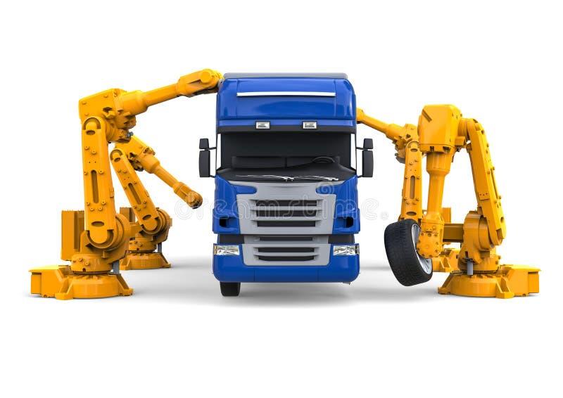 Vrachtwagenlopende band stock illustratie