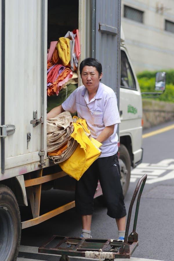 Vrachtwagenportier royalty-vrije stock foto