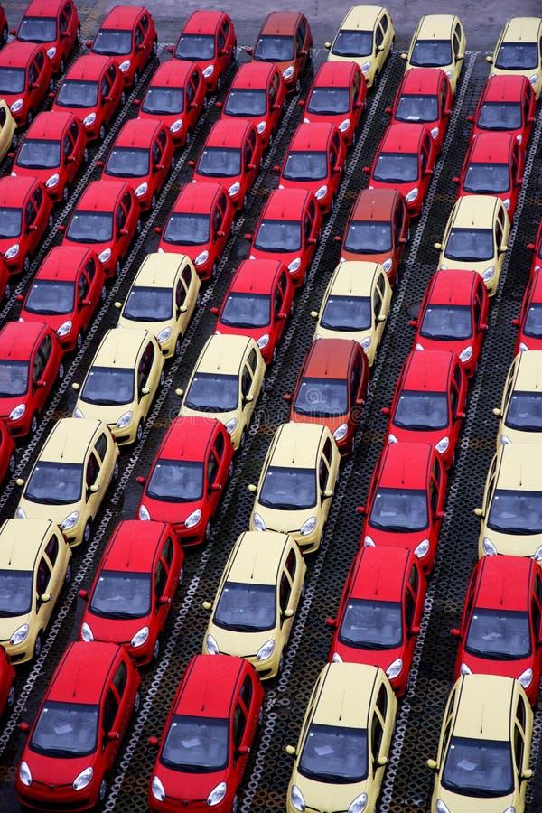 Vrachtwagens van de Changan de nieuwe fabriek stock afbeeldingen