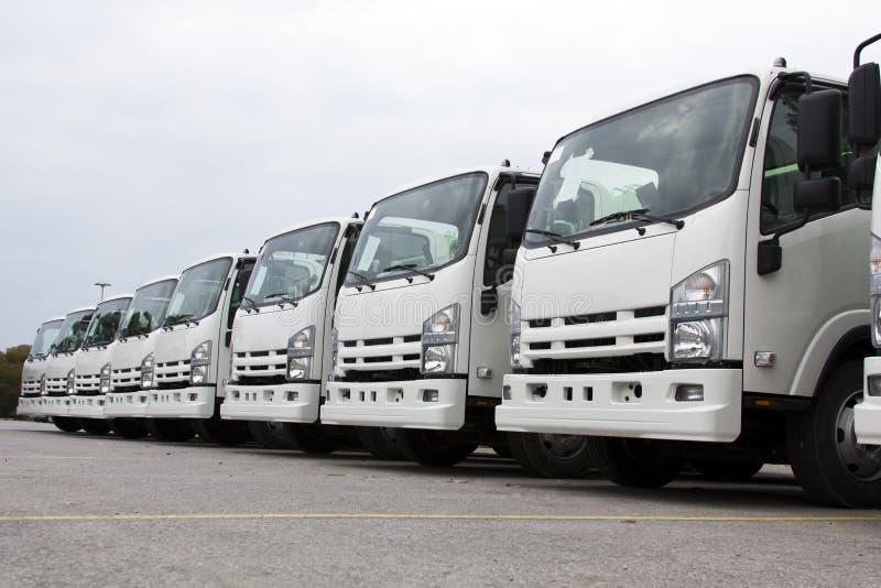 Vrachtwagenvloot stock afbeeldingen