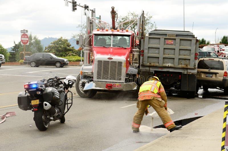 Vrachtwagenwrak royalty-vrije stock fotografie