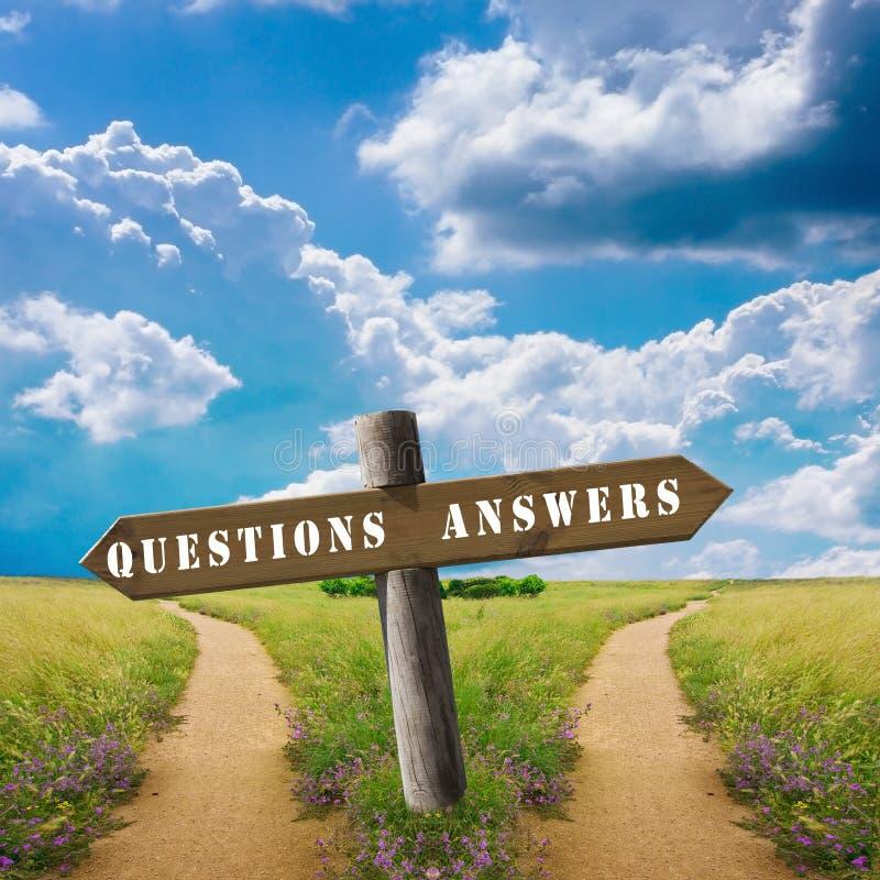 Vragen en antwoorden stock foto's