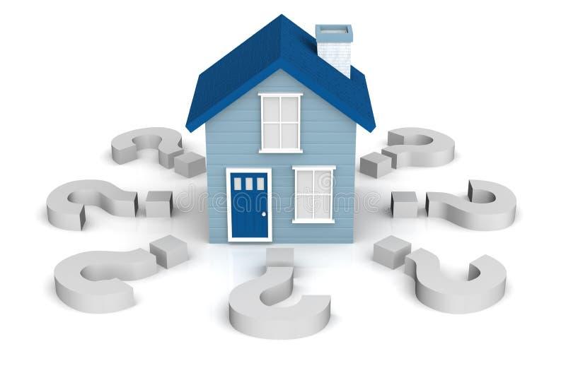 Vragen over de Eigendom van het Huis stock illustratie