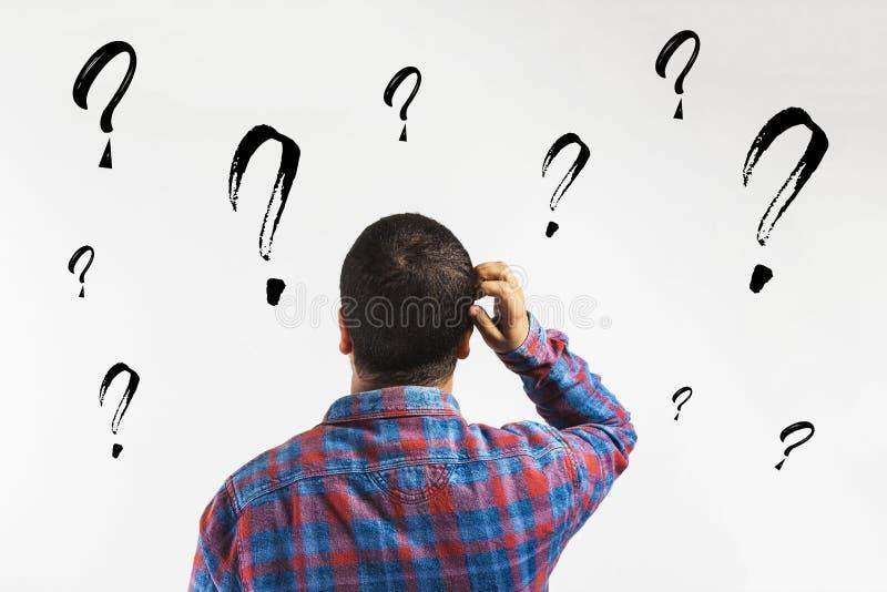 vragen, waarom? - bedrijfsconcept vector illustratie