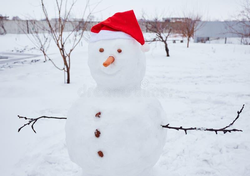 Vrai bonhomme de neige dehors photo stock image du - Vrai flocon de neige ...