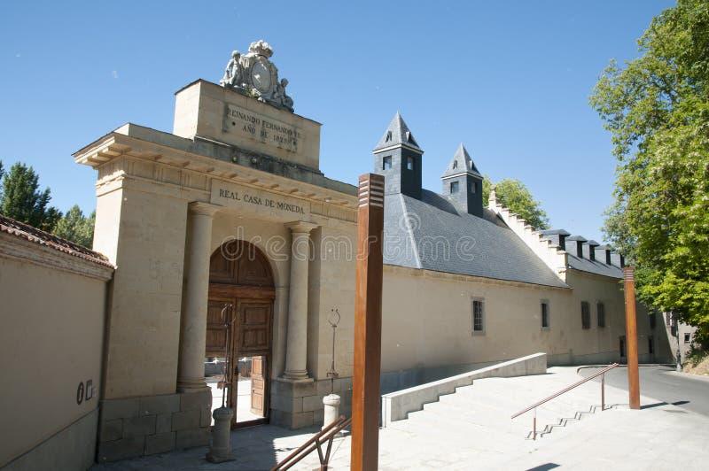 Vrai Casade la Moneda Front Door - Ségovie - l'Espagne image libre de droits