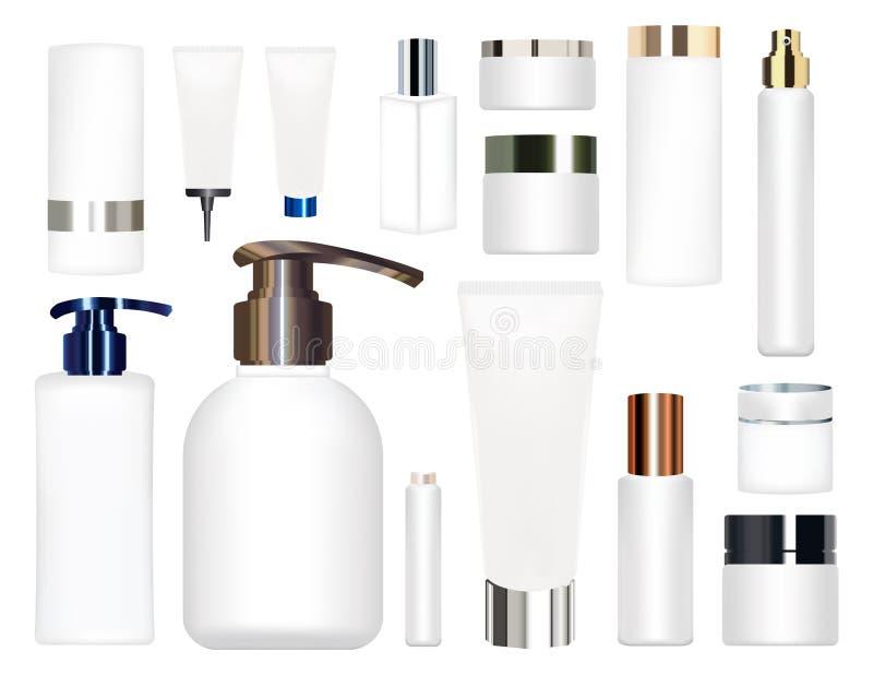 Vrai tube cosmétique blanc sur un fond blanc illustration libre de droits