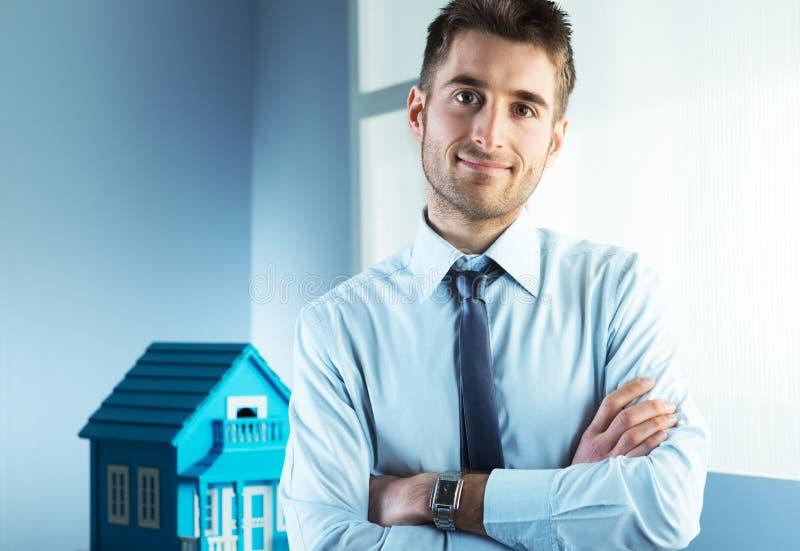 Vraie agence immobilière photographie stock libre de droits