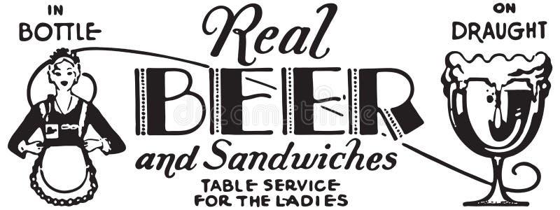 Vraie bière illustration libre de droits