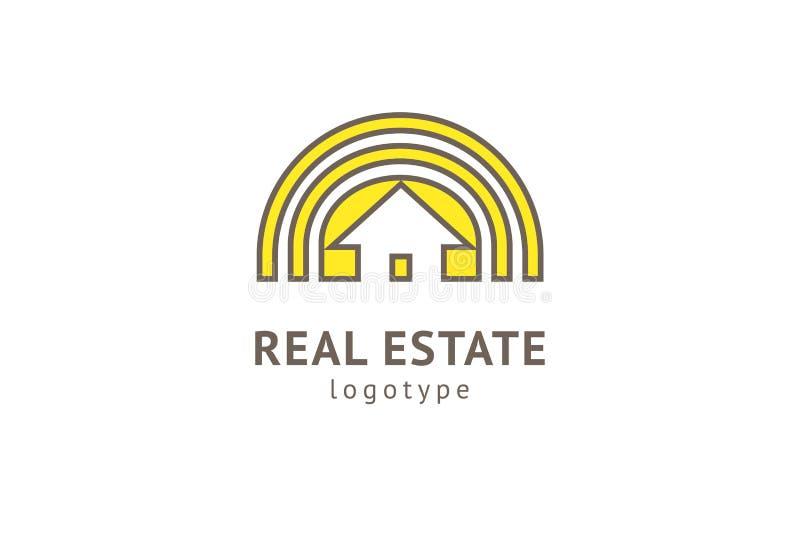 Vraie conception abstraite de vecteur d'ic?ne de logo d'agent immobilier Loyer, vente de logo de vecteur d'immobiliers, nettoyage illustration stock