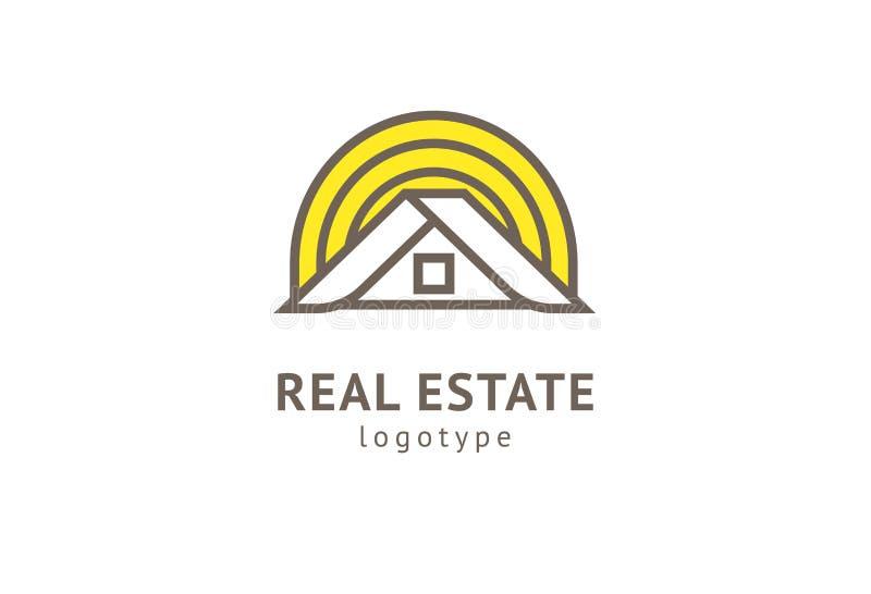 Vraie conception abstraite de vecteur d'ic?ne de logo d'agent immobilier Loyer, vente de logo de vecteur d'immobiliers, nettoyage illustration de vecteur