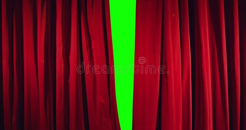 Vraie ouverture de rideau en théâtre photos libres de droits