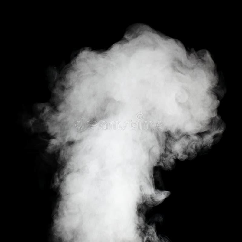Vraie vapeur sur le fond noir. photographie stock
