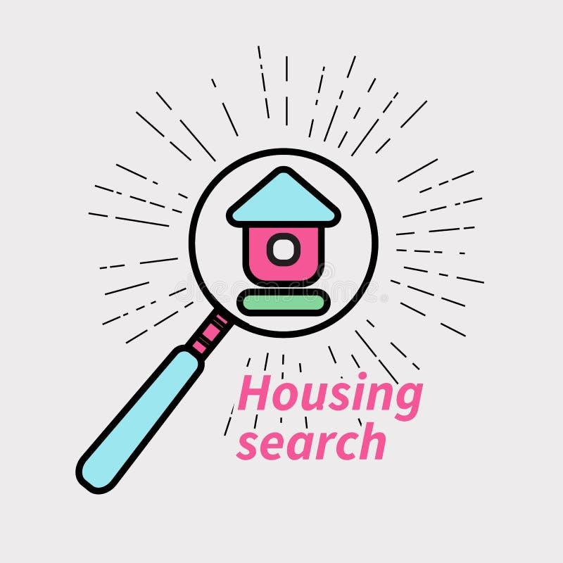 Vrais agents immobiliers d'icône illustration libre de droits