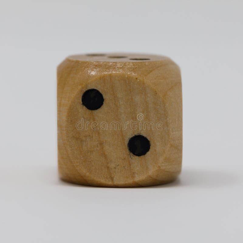 Vrais en bois meurent la tache 2 photo libre de droits