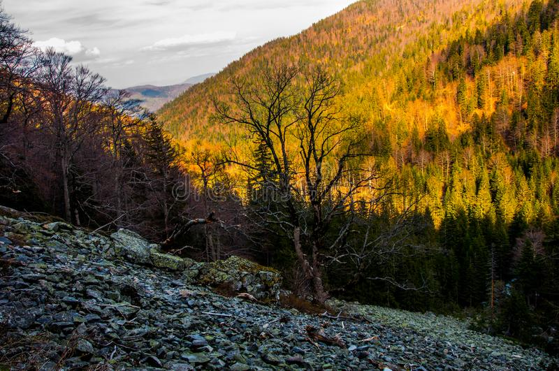 Vranica mountain in the early spring. Vranica mountain in the Bosnia and Herzegovina in the early spring stock photography