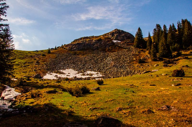 Vranica mountain in the early spring. The top of the beautiful mountain Vranica in the early spring stock images