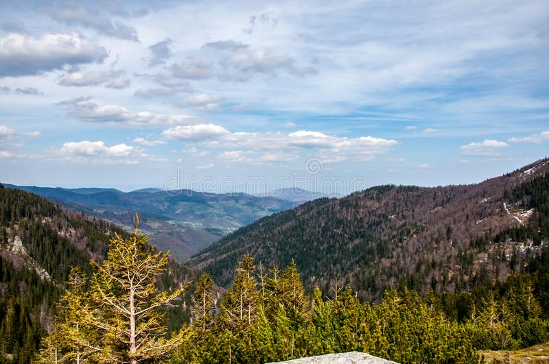 View from Mountain Vranica. Vranica one of the most beautiful mountain in Bosnia and Herzegovina stock photo