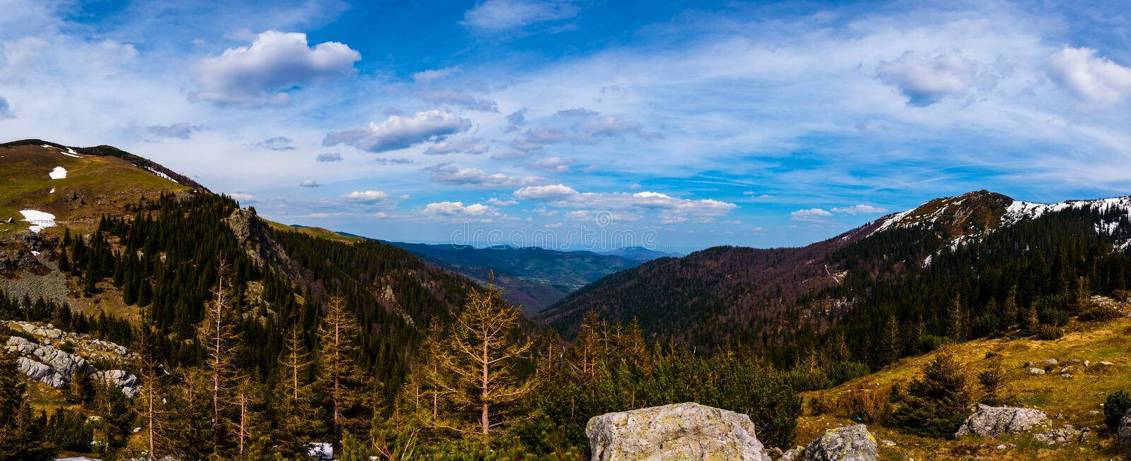 View from Mountain Vranica. Vranica one of the most beautiful mountain in Bosnia and Herzegovina stock photos