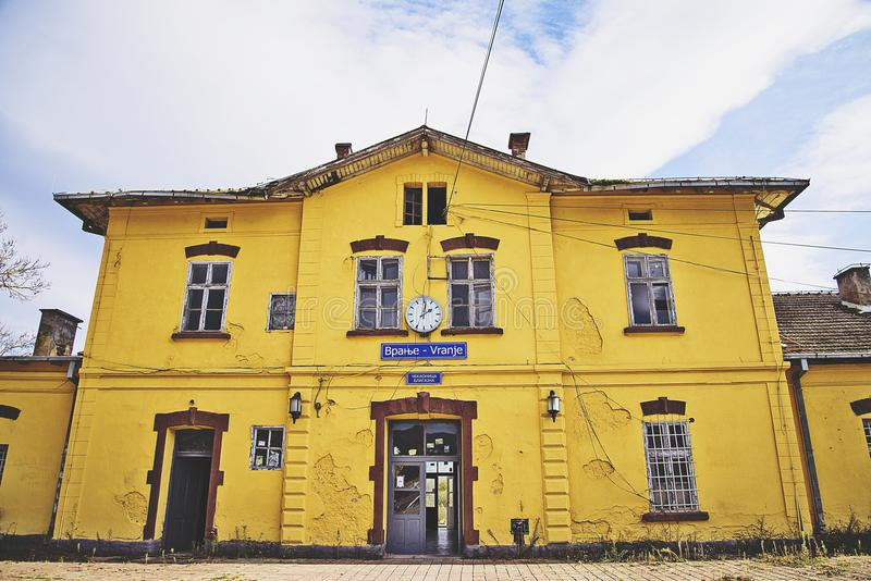Vranje, the railway station royalty free stock photos