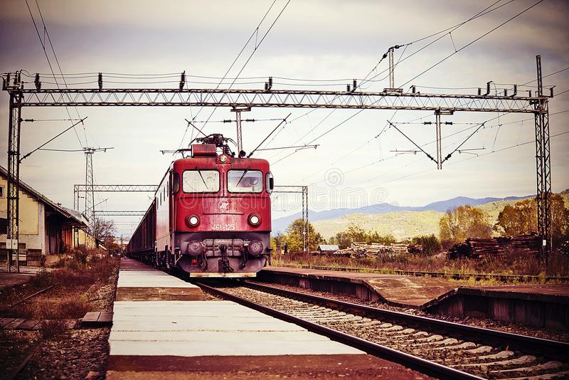 Vranje, the railway station stock photography