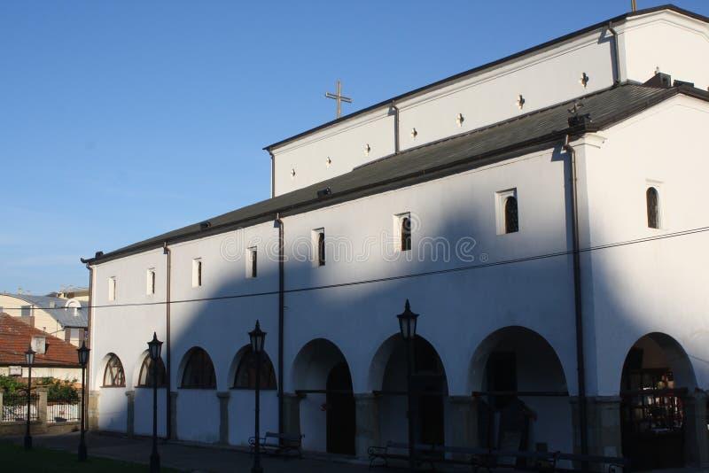 Vranje, Servië, 10 06 2017 - Mooie kerk in het centrum van Vranje stock fotografie