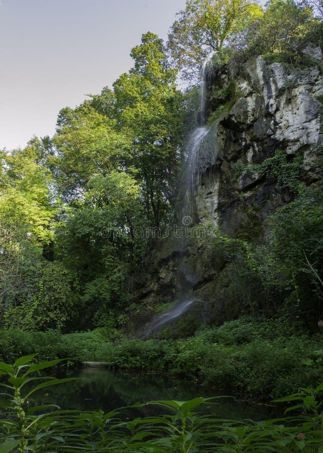 Vranjevina-Wasserfall, Daruvar, Kroatien stockfoto