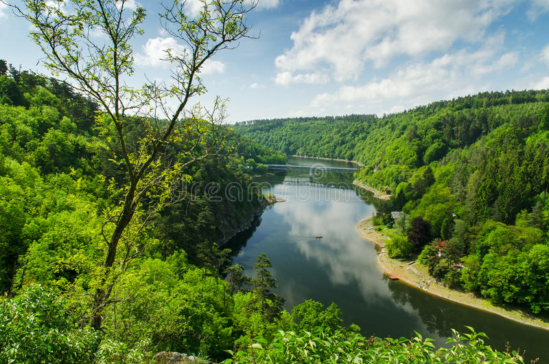 Vranov Dam on the river Thaya stock images