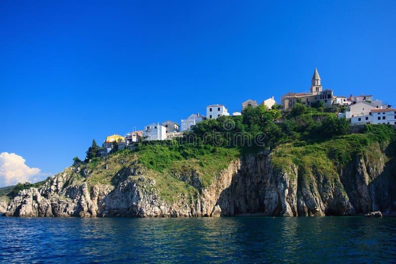 Vrbnik sull'isola di Krk fotografia stock libera da diritti