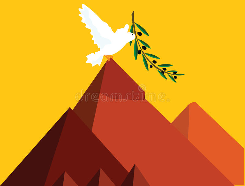 Vrede in Egypte vector illustratie